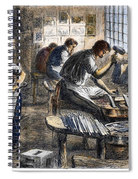 Steel Factory, 1866 Spiral Notebook