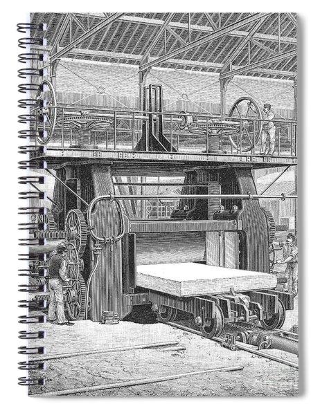 Steel: Rolling Mill, 1892 Spiral Notebook