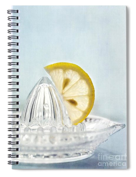 Still Life With A Half Slice Of Lemon Spiral Notebook