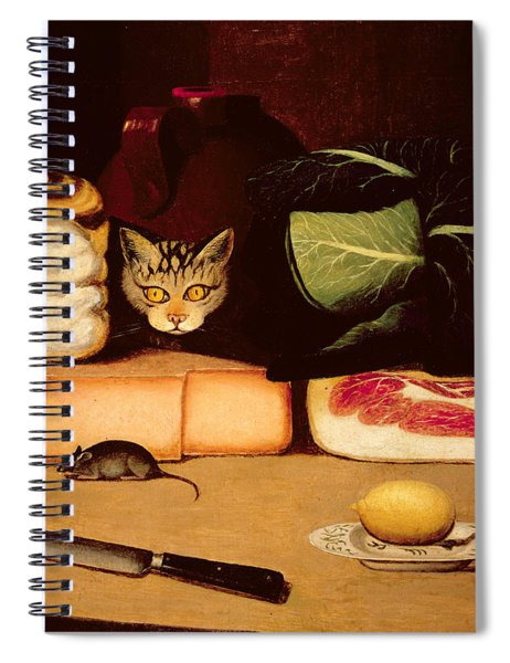 Still Life With Cat And Mouse Spiral Notebook