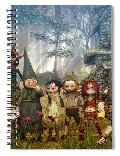Strange Family Spiral Notebook