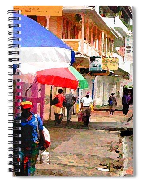 Street Scene In Rosea Dominica Filtered Spiral Notebook