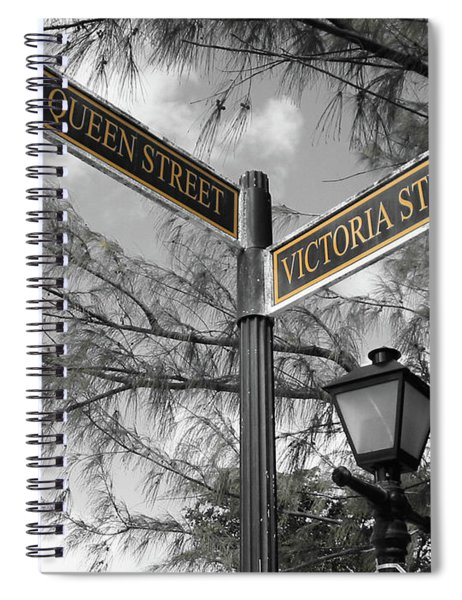Street Signs On Grand Turk Spiral Notebook