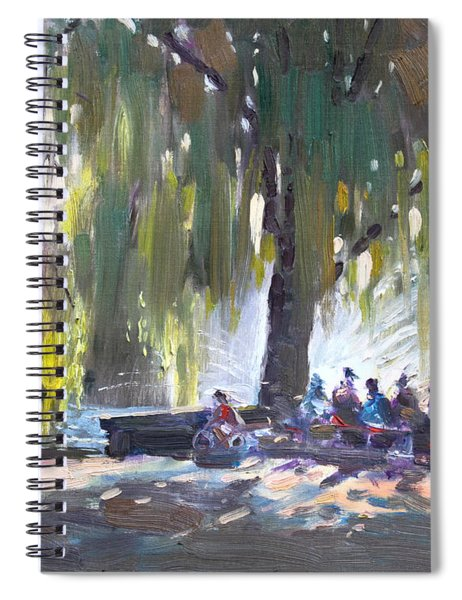 Sunday Afternoon By The Fontain Spiral Notebook