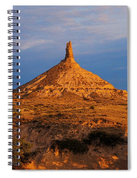 Spiral Notebook featuring the photograph Sunrise At Chimney Rock by Edward Peterson