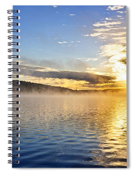 Sunrise On Foggy Lake Spiral Notebook