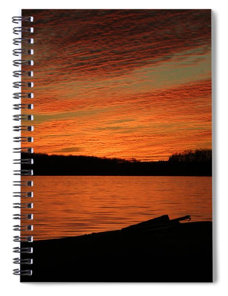 Sunset And Kayak Spiral Notebook