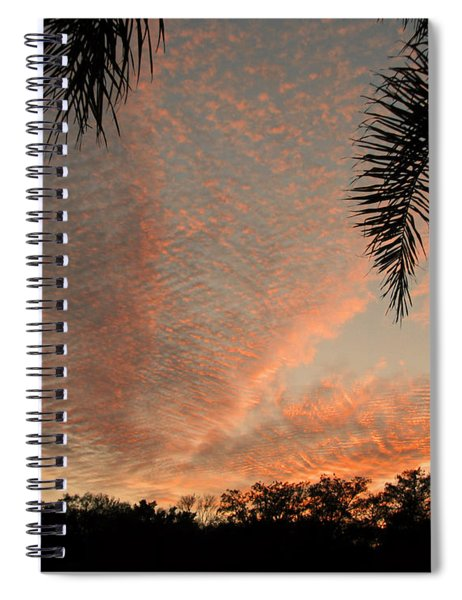 Sunset In Lace Spiral Notebook