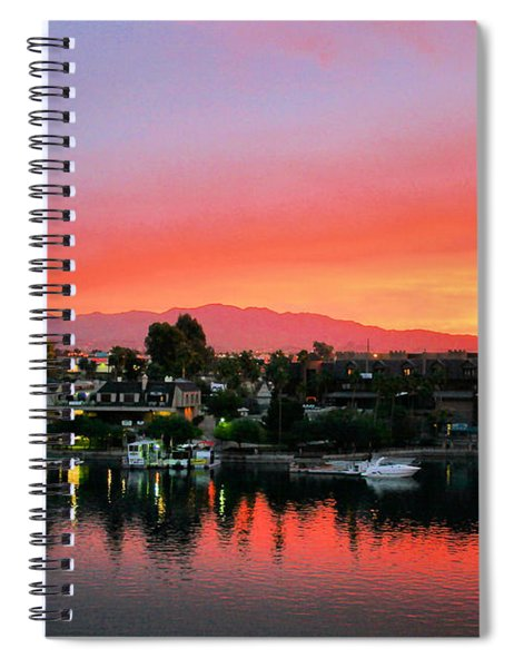 Sunset On Lake Havasu Spiral Notebook