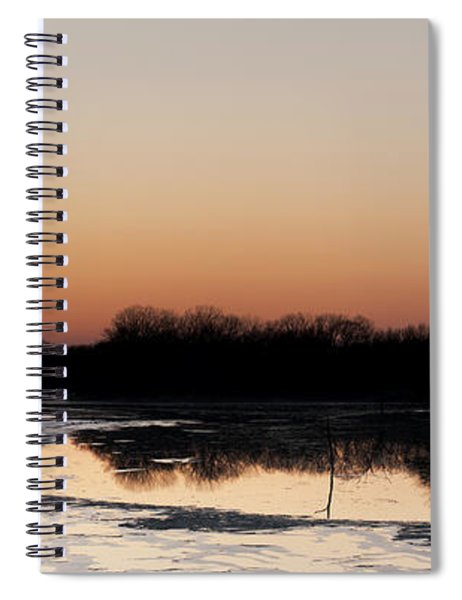 Sunset Over The Republican River Spiral Notebook