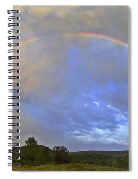Sunset Rainbow Spiral Notebook