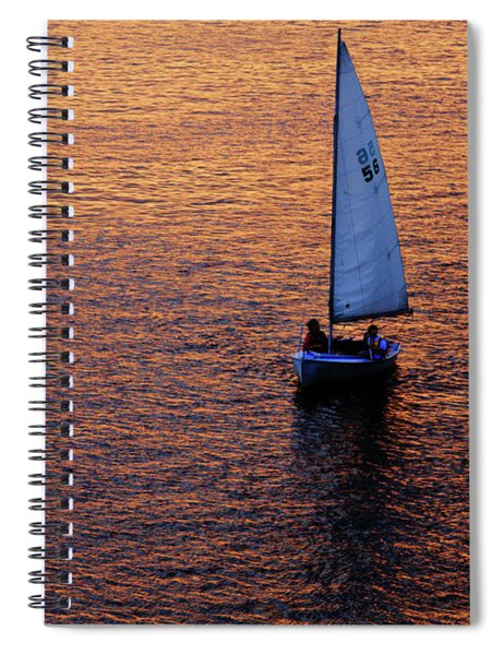 Sunset Sailing Spiral Notebook