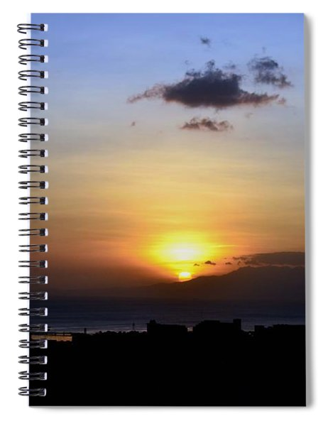 Sunset Upon The Ocean Number Two Spiral Notebook