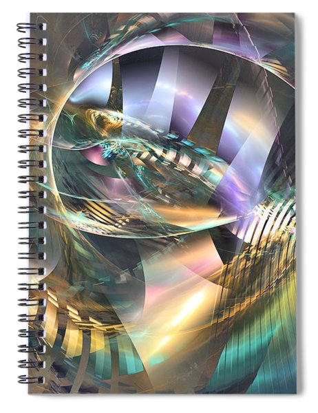 Symphony Of Colors - Abstract Art Spiral Notebook