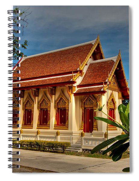 Temple Spiral Notebook by Adrian Evans