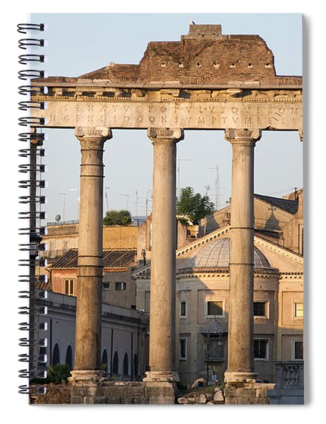 Temple Of Saturn In The Forum Romanum. Rome Spiral Notebook