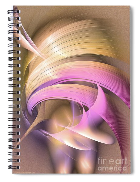 Tempus Rex - Abstract Art Spiral Notebook