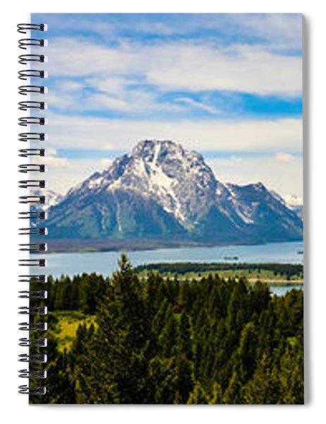 Teton June Panorama Spiral Notebook