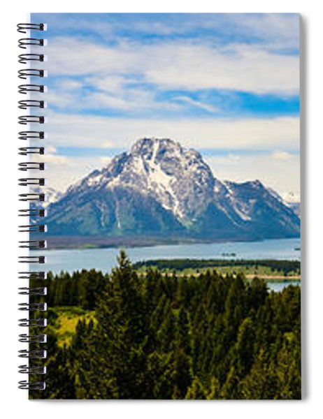 Teton June Panorama Spiral Notebook