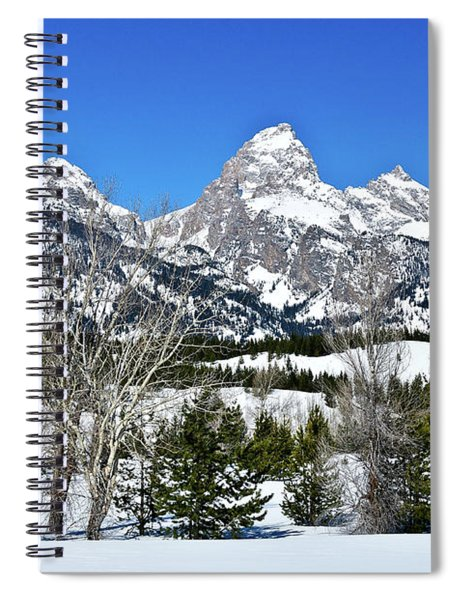 Teton Winter Landscape Spiral Notebook