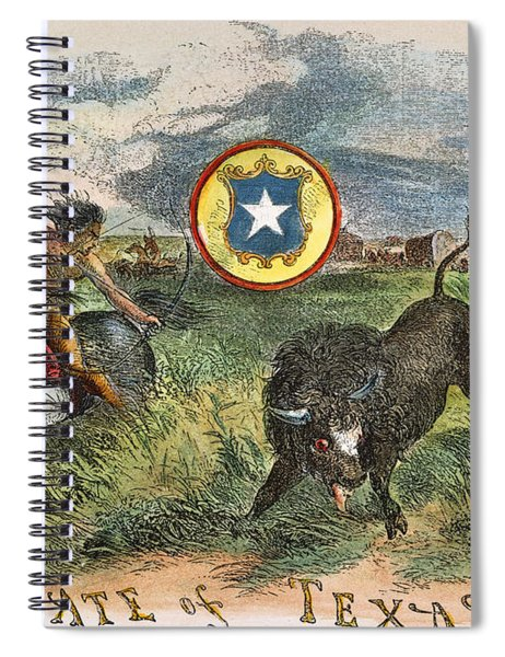 Texas: Buffalo Hunt, 1855 Spiral Notebook
