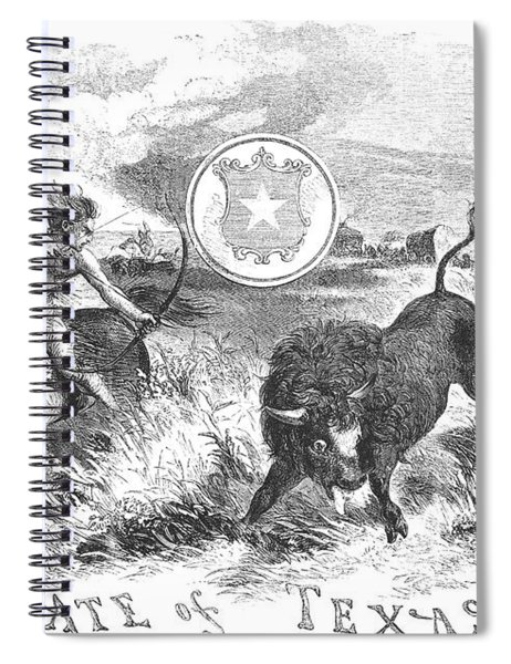 Texas Scene, 1855 Spiral Notebook