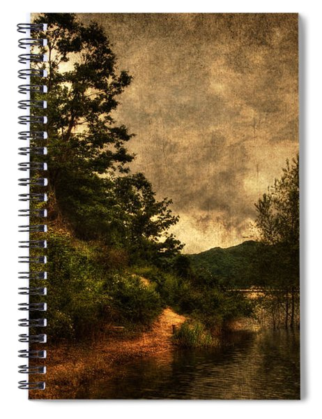Textured Lake Spiral Notebook