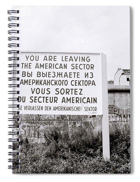 Berlin Wall American Sector Spiral Notebook