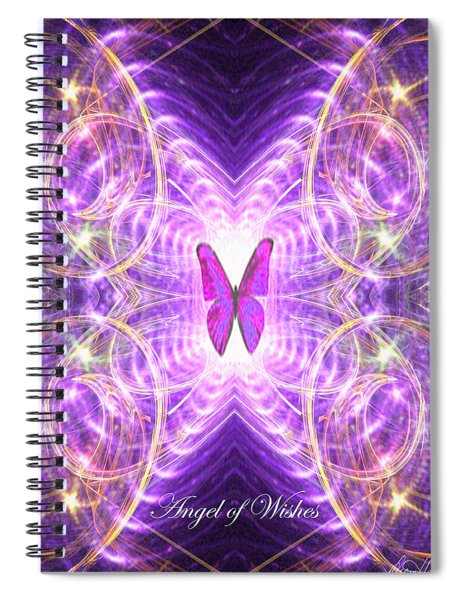 The Angel Of Wishes Spiral Notebook