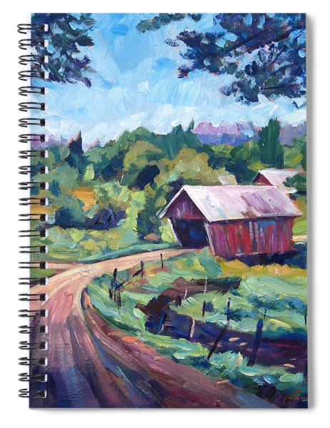 The Bridges Of East Randolph Vermont Spiral Notebook