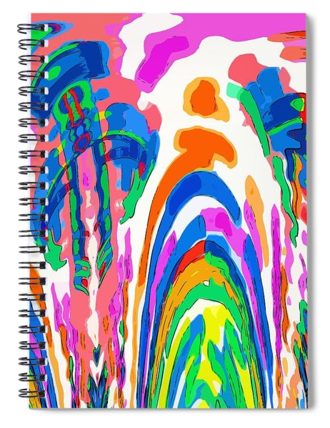 The Colors Fountain Spiral Notebook