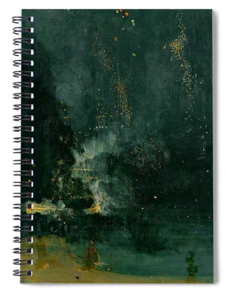 The Falling Rocket Spiral Notebook