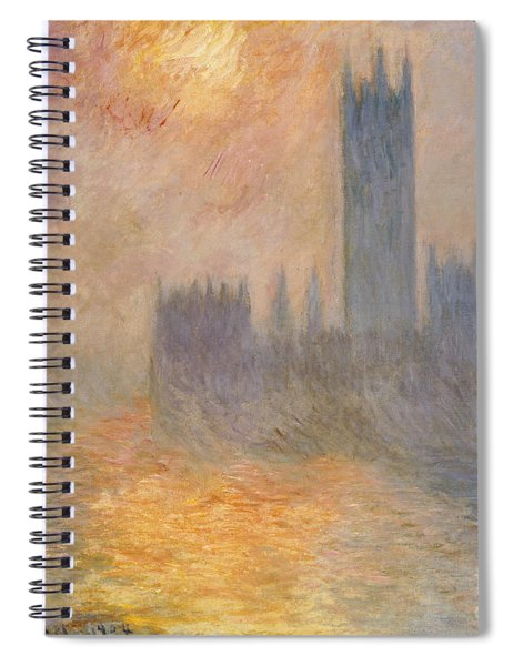 The Houses Of Parliament At Sunset Spiral Notebook