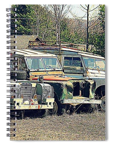 The Land Rover Graveyard Spiral Notebook
