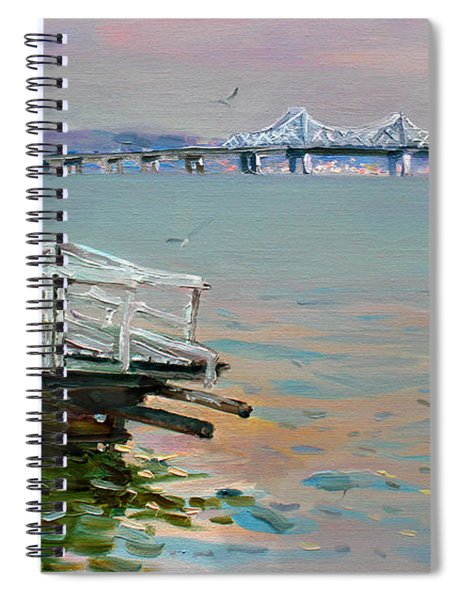 The Old Deck And Tappan Zee Bridge Spiral Notebook