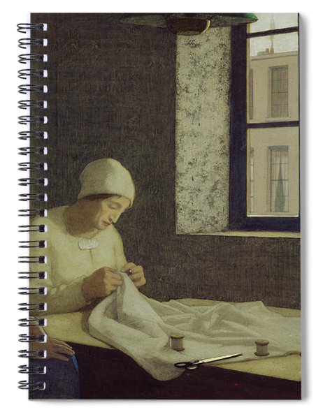 The Old Nurse Spiral Notebook by Frederick Cayley Robinson