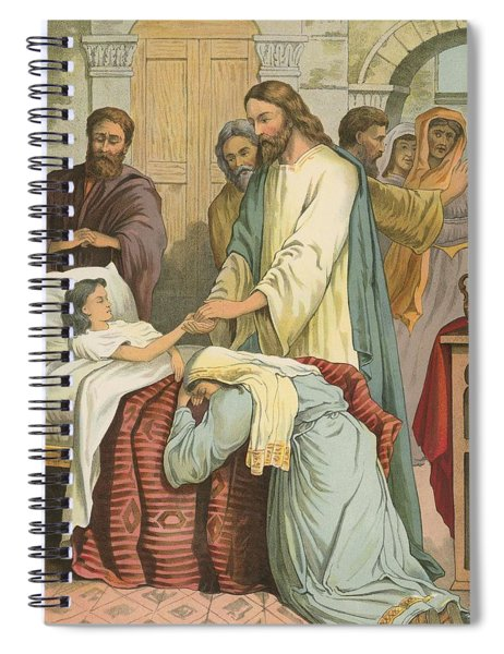 The Raising Of Jairus' Daughter Spiral Notebook