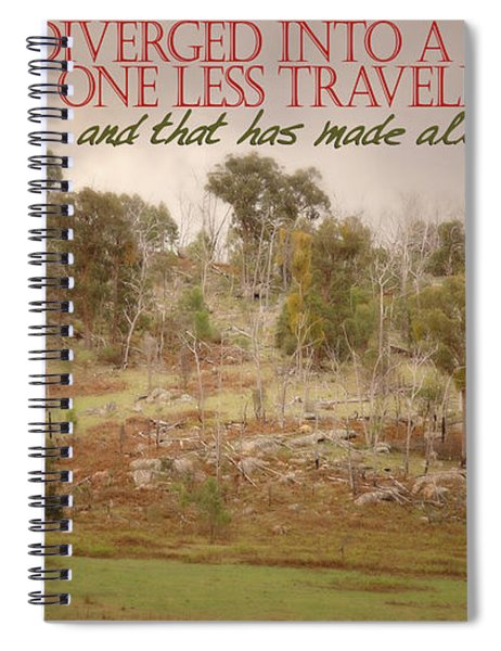 The Road Less Travelled Spiral Notebook