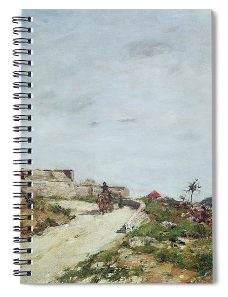 The Road To The Citadel At Villefranche Spiral Notebook