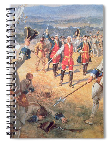 The Victory Of Montcalms Troops At Carillon Spiral Notebook