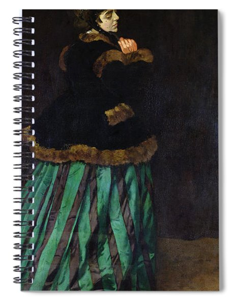 The Woman In The Green Dress Spiral Notebook