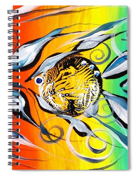 Three In A Row ... Three Spiral Notebook