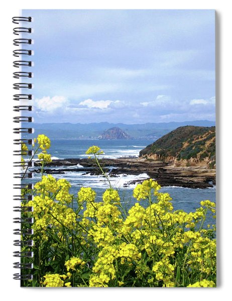 Spiral Notebook featuring the photograph Through Yellow Flowers by Lorraine Devon Wilke