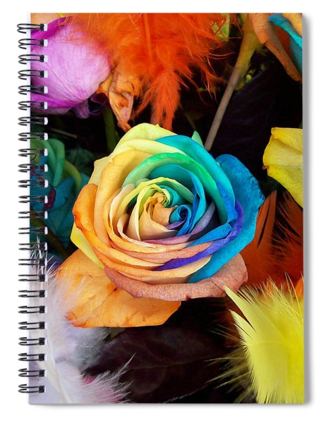 Tie Dyed Roses In Japan Spiral Notebook