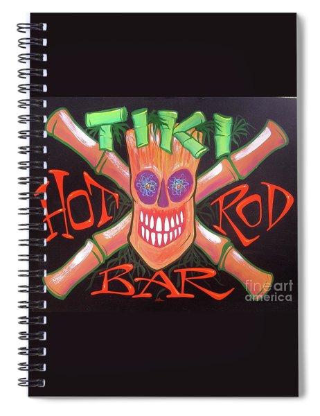 Tiki Hot Rod Bar Spiral Notebook