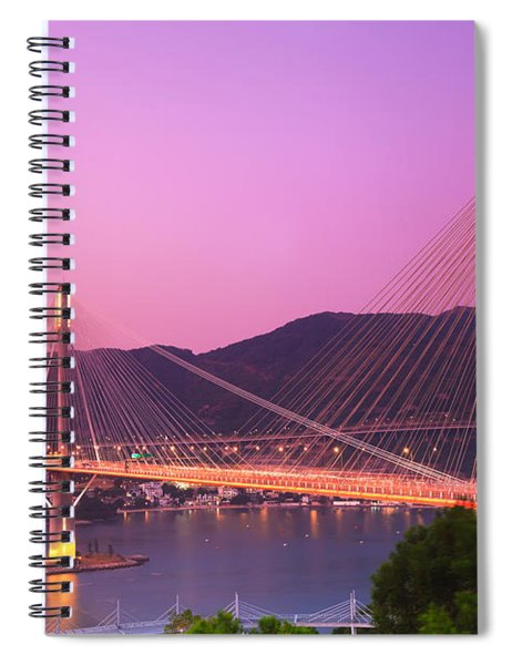 Ting Kau Bridge Spiral Notebook