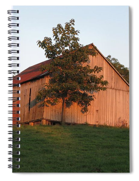 Tobacco Barn II In Color Spiral Notebook
