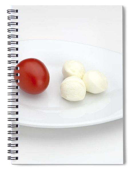 Tomato Mozzarella Spiral Notebook