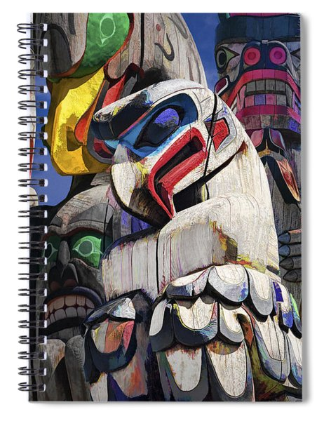 Totem Poles In The Pacific Northwest Spiral Notebook