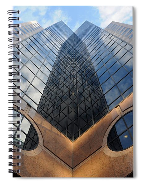 Towering Modern Skyscraper In Downtown Spiral Notebook